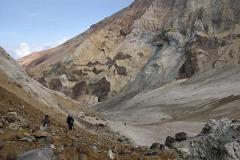 с ледника на фумарольное поле