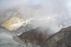 в кратере