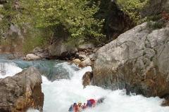 Порог-водопад в начале каньона в 2006 г