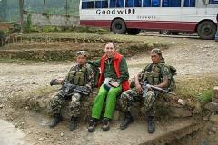 С солдатами национальной гвардии