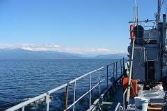 На катере через Байкал.
