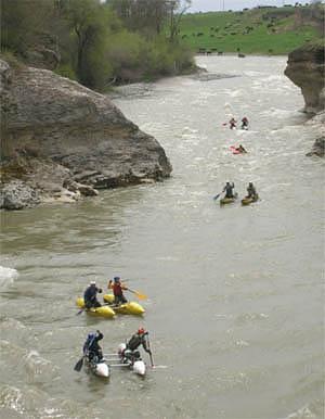 Отчёт о водном походе по рекам Кубань, Аксаут -Большой Зеленчук.  Кавказ , май 2007.