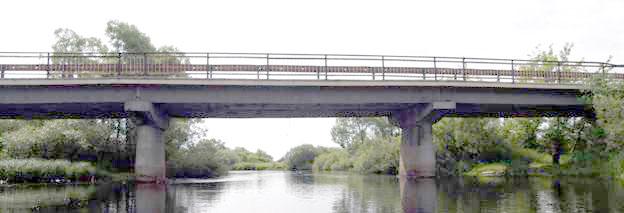Бетоный автомобильный мост в Спасс-Клепиках.
