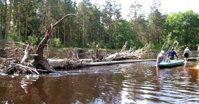Лоция реки Пра, участок Спас-Клепики - Деулино.