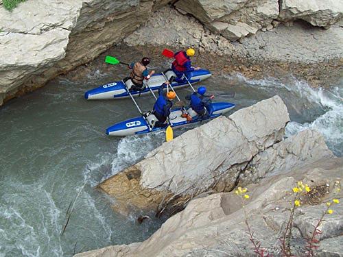 Прохождение самого узкого места каньона