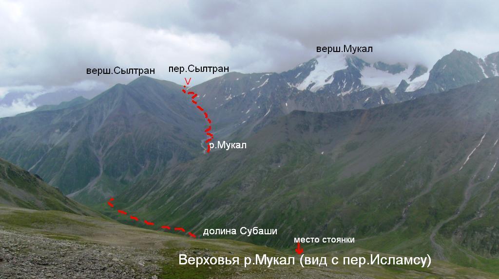горный узел Мкяра-Мукал, пер.Сылтран