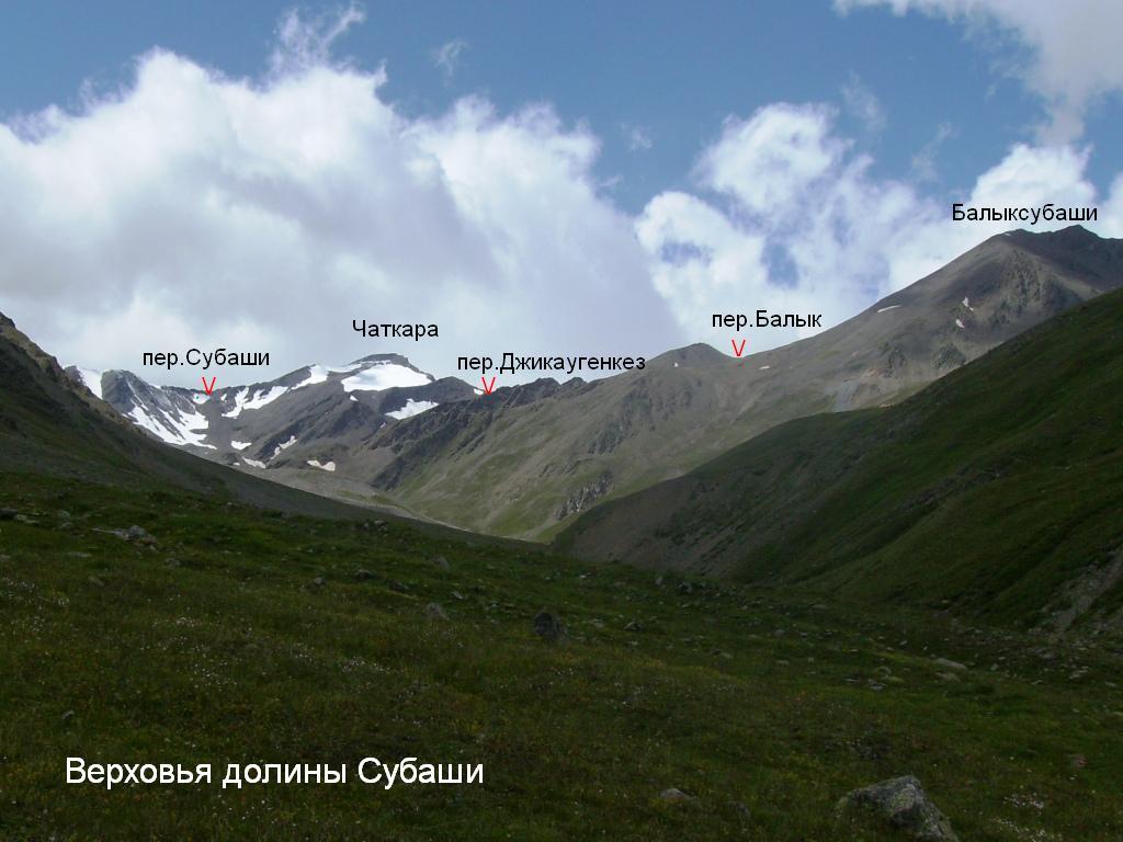 верховьях реки Субаши