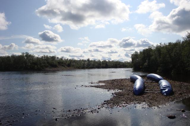 Фото 07 – Рыбацкая стоянка (1 км выше каскада шивер «АБВГД»)
