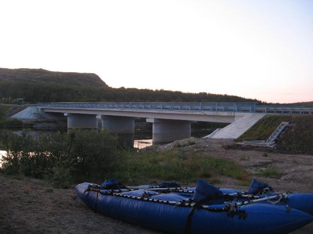 Фото 16 – Мост у КПП пограничников – конечная точка сплава по р. Титовка