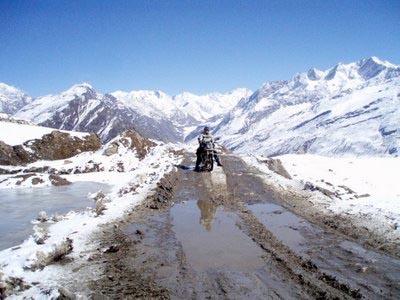 Перевал Rohtang Pass в октябре.