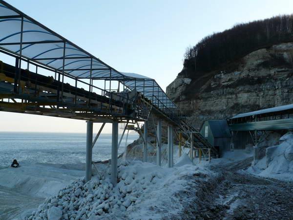 Береговой склад гипсовой руды