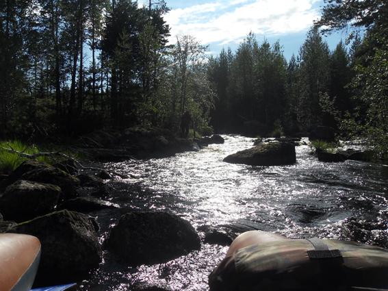Фото №13 Протока между озёр. Подъем против течения