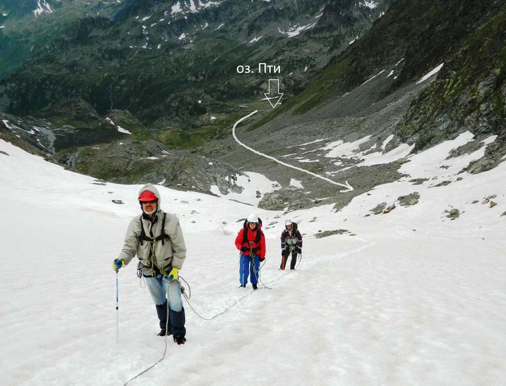Фото16. Прохождение снежного взлёта пер. Луадон Овест