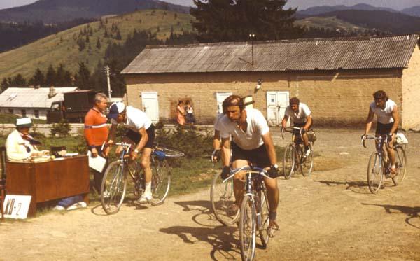 Команда Рязани на дистанции велоралли.