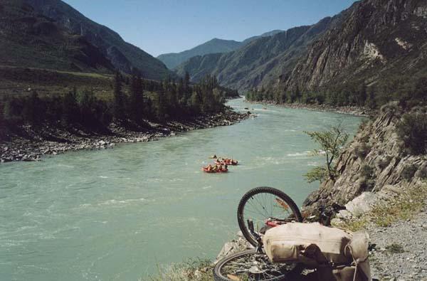 август 2004 года, Алтай, река Катунь.
