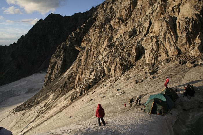 Вид на ледник Юнгур.