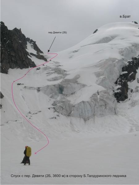 Вид на пер.Девяти (2Б) с Талдуринского ледн.