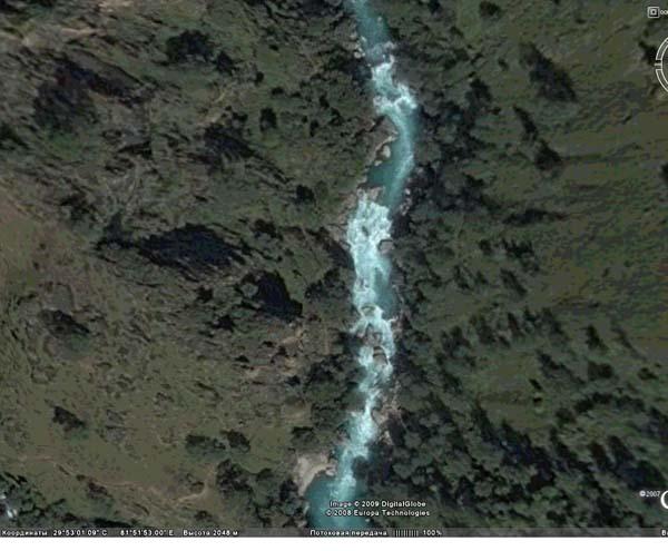 (фото 3) первая часть второго завала (фото из программы GoogleEarth)