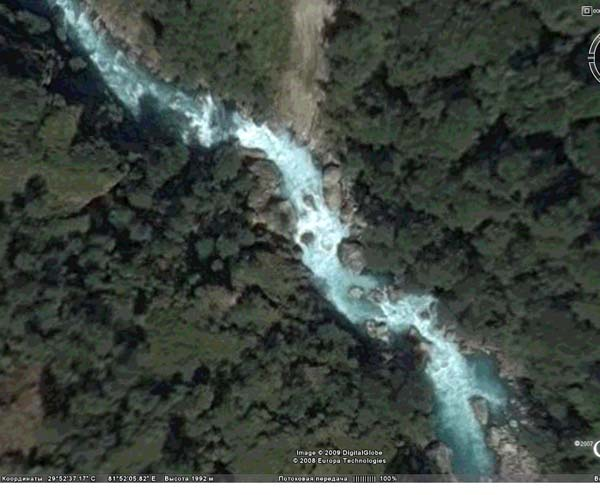 (фото 5) третья часть второго завала (фото из программы GoogleEarth)