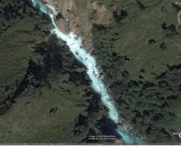 (фото 6) финальная часть второго завала (фото из программы GoogleEarth)
