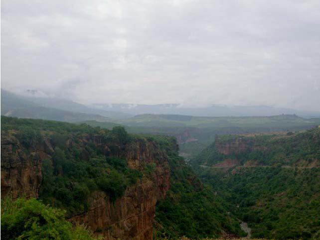 Рис.1 Пейзаж Эфиопского нагорья.