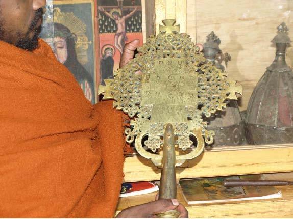 Рис.8. Коптский крест в музее на оз.Тана.