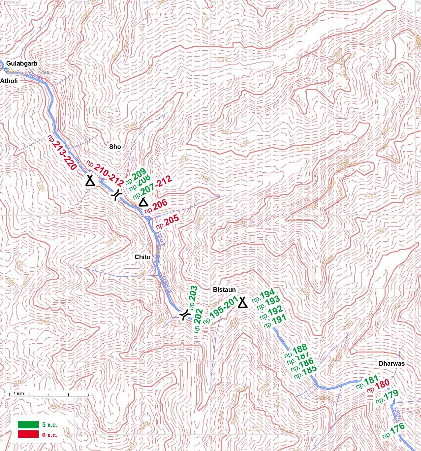 Приложение №6 GPS карта реки Ченаб, Индия