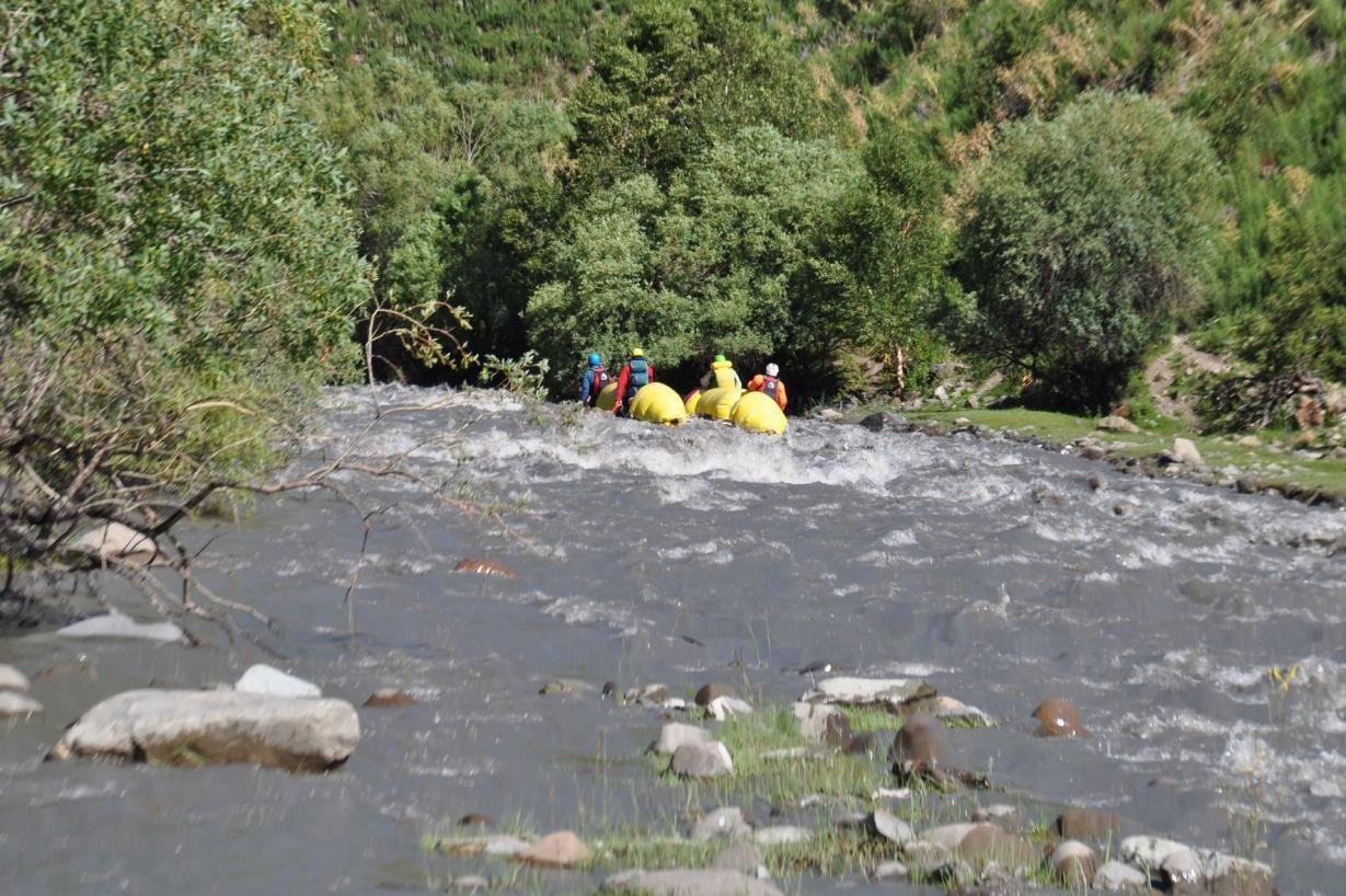 Фото 96. Р. Каракульджа. Начало сплава.