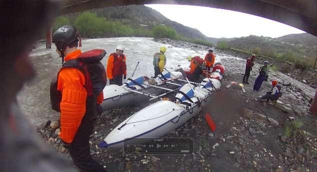 Фото 27 Подготовка к старту из под моста через Риони после обноса Уцеры.