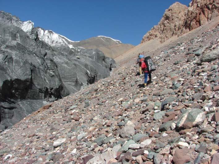 Ф.11 Движение левым ранклюфтом ледника Атджайло