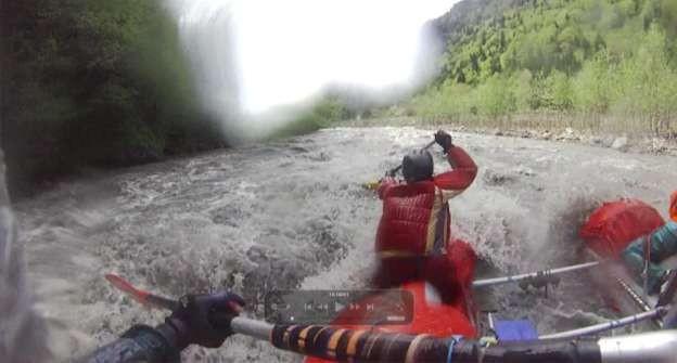 Фото 58 Участок реки, мощных шивер ниже пос.Лентехи К1