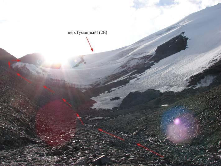 Ф.26 Перевал Туманный1 из правобережного кармана лед.Атджайло2