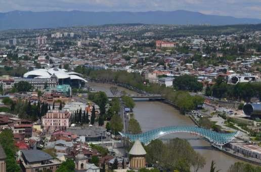 Фото 131 Вид на Тбилиси из крепости.
