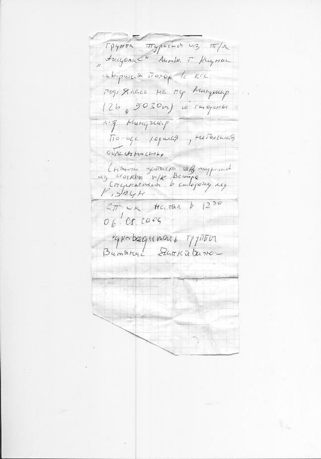 Отчёт о горном туристском путешествии пятой категории сложности по Памиру (Пик ЛЕНИНА), (Заалайский Центральный хребет)