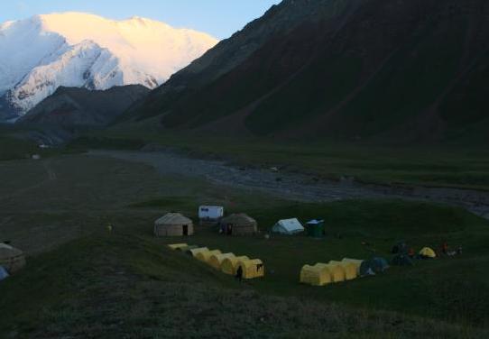 Базовый лагерь в Ачик-Таш