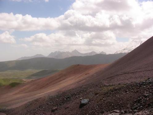 Вид на восточную седловину пер.Рязань с западной