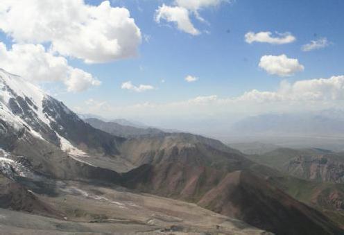 Вид на запад с подъема на пер. Цюрупы