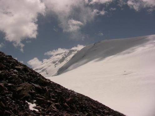 Вид на вершину Цюрупы с пер. Цюрупы