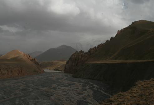 Вид на место переправы через р. Кунгырсуу