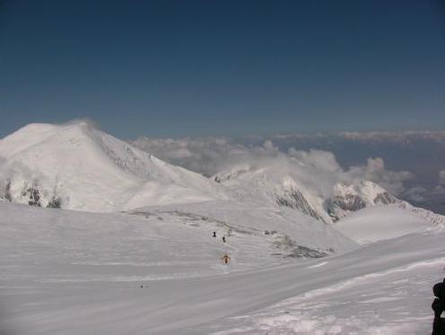 Вид на плато 6400-6500м
