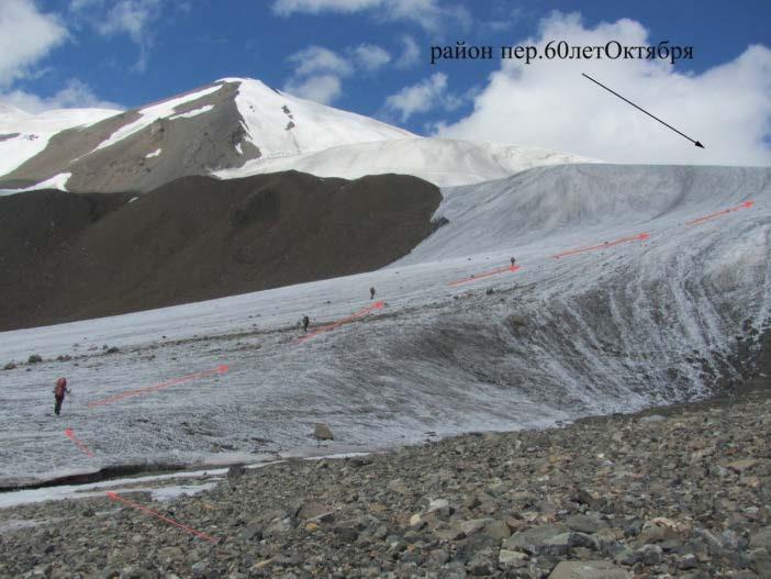 Ф.142 Подход к пер.60лет Октября по леднику текущему с перевала