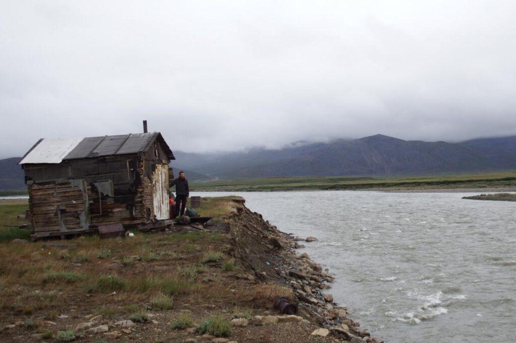 Перевалочная база выше устья р.Рыннатийным.