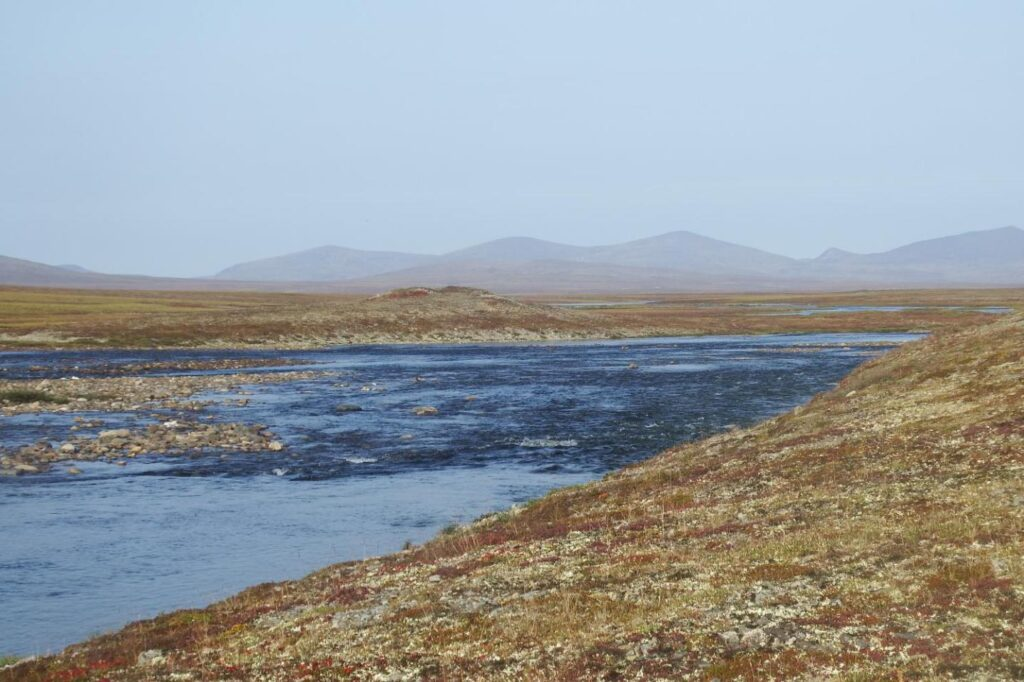 Среднее течение реки Конталяваам.